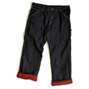 Men Fleece Lined Carpenter Jeans 37 x 29